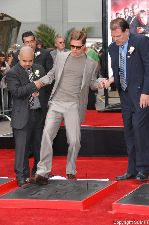 6/5/2007 Brad Pitt's hand/footprint ceremony at Grauman's Chinese Theater