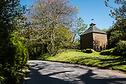 The chapel and pigeon house at Hamptonne Country Life Museum, a tourist attraction in Jersey, CI