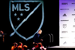 January 11, 2019 - Chicago, IL, U.S. - CHICAGO, IL - JANUARY 11: Tucker Bone is selected as the number twenty overall pick to the Seattle Sounders in the first round of the MLS SuperDraft on January 11, 2019, at McCormick Place in Chicago, IL. (Photo by Patrick Gorski/Icon Sportswire) (Credit Image: © Patrick Gorski/Icon SMI via ZUMA Press)