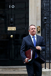 © Licensed to London News Pictures. 11/10/2016. London, UK. International Trade Secretary LIAM FOX attends a cabinet meeting in Downing Street on Tuesday, 11 October 2016. Photo credit: Tolga Akmen/LNP