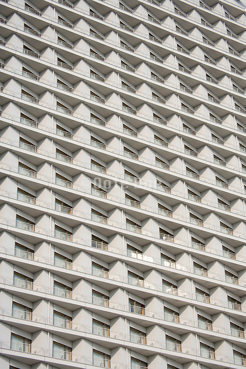 close up of residential high rise in Tokyo Japan