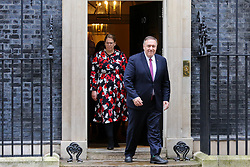 © Licensed to London News Pictures. 30/01/2020. London, UK. U.S. Secretary of State MIKE POMPEO departs from No 10 Downing Street after meeting Prime Minister BORIS JOHNSON and Foreign SecretaryDOMINIC RAAB. Photo credit: Dinendra Haria/LNP