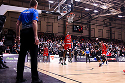 Jalan McCloud of Bristol Flyers shoots - Photo mandatory by-line: Robbie Stephenson/JMP - 01/03/2019 - BASKETBALL - Eagles Community Arena - Newcastle upon Tyne, England - Newcastle Eagles v Bristol Flyers - British Basketball League Championship