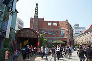 The square kiln chimney is a landmark of Yingge Ceramics Old Street