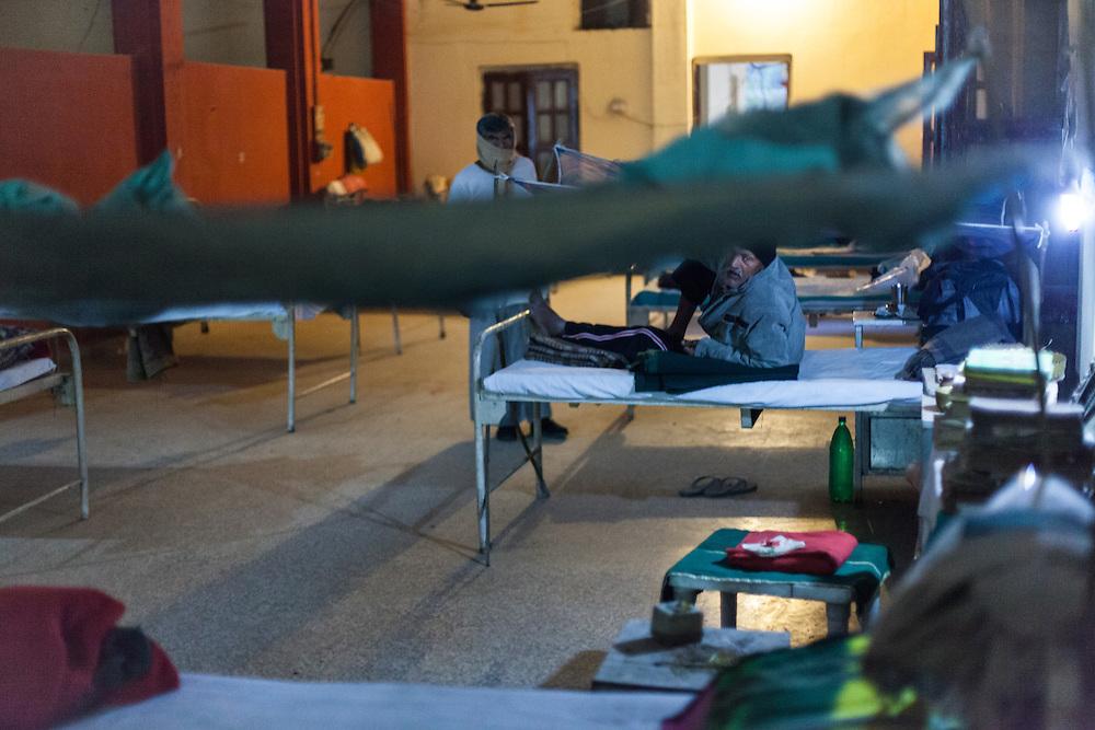 The men's leprosy ward of Avadhoot Bhagwan Ram Kustha Sewa Ashram leprosy hospital.