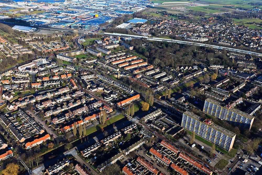 Nederland, Gelderland, Harderwijk, 20-01-2011; de nieuwbouwwijk Stadsdennen.New housing estate in Harderwijk called Stadsdennen (Urban pines).luchtfoto (toeslag), aerial photo (additional fee required).copyright foto/photo Siebe Swart