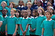 Kids' Choir is an inspirational music education project developed and run by the Mayor's Thames Festival. Over a seven-month period, the festival works with music teachers and children from primary schools all over London to develop a mass choir of 750 voices. This choir then performs in front of Tower Bridge to thousands of people