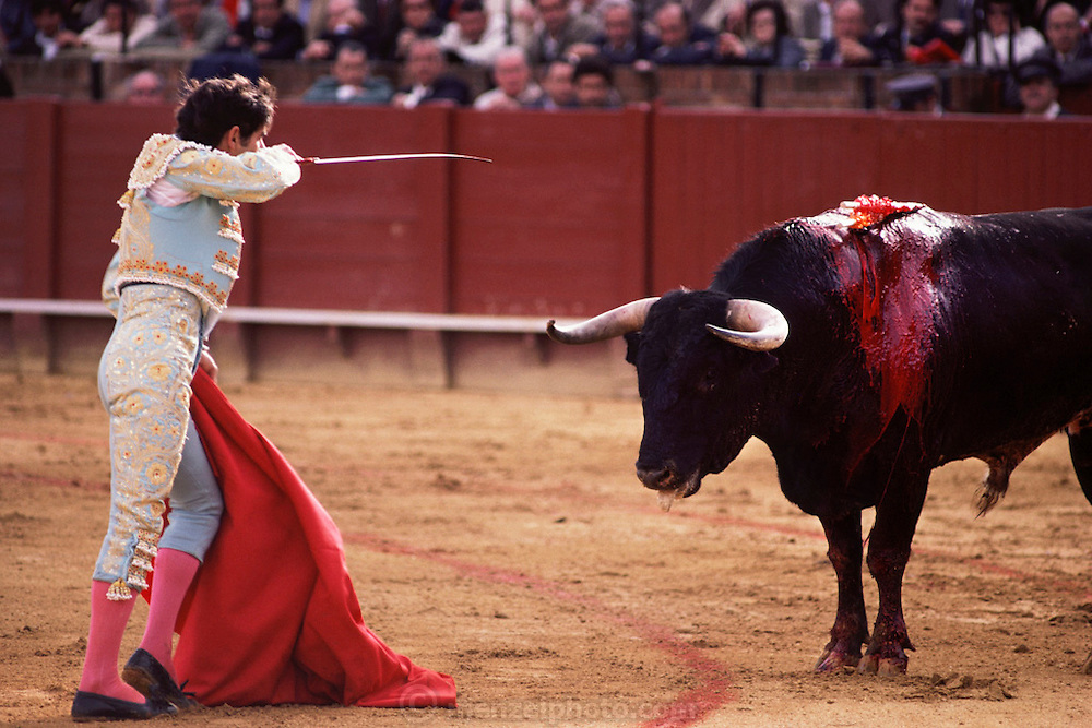 Bullfight, April Fair, Seville, Spain.
