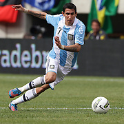 Angel Di Maria, Argentina, in action during the Brazil V Argentina International Football Friendly match at MetLife Stadium, East Rutherford, New Jersey, USA. 9th June 2012. Photo Tim Clayton
