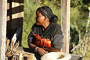 Madagascar, A Madagascan woman with braided hair