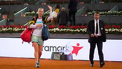 May 9, 2019 - Madrid, MADRID, SPAIN - Kiki Bertens of the Netherlands celebrates winning her quarter-final match at the 2019 Mutua Madrid Open WTA Premier Mandatory tennis tournament (Credit Image: © AFP7 via ZUMA Wire)