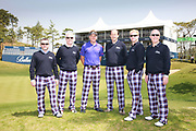 Ballantine's Championship 2012. Round 2. IJP Design Group picture with the Ballantine's Team and Ian Poulter