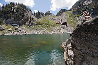 Those who make the hike up to Surprise and Amphitheater Lakes are rewarded with spectacular views and a cool dip on hot summer afternoons.