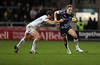Rugby Union - 2017 / 2018 Aviva Premiership - Sales Sharks vs. Exeter Chiefs<br /> <br /> James o'Connor of Sale Sharks and Ian Whitten of Exeter Chiefs at AJ Bell Stadium.<br /> <br /> COLORSPORT/LYNNE CAMERON