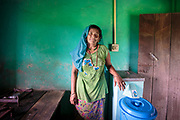Muna's biosand filter is inexpensive, easy to maintain, does not require electricity and provides a reliable source of clean water for Muna and her family.