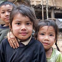 Children posing in Ban Na village.