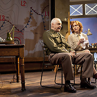 """The Lyceum present the World Premiere of Pressure<br /> By David Haig<br /> <br /> Picture shows : Laura Rogers as Kay Summersby and Malcolm Sinclair – General Dwight D """"Ike"""" Eisenhower <br /> <br /> <br /> Picture : Drew Farrell<br /> Tel : 07721 -735041<br /> www.drewfarrell.com<br /> Directed by John Dove<br /> A co-production with Chichester Festival Theatre<br /> June 1944. One man's decision is about to change the course of history.<br /> <br /> Cast<br /> David Haig – Group Captain Dr. James StaggLaura Rogers – Kay SummersbyRobert Jack – AndrewAnthony Bowers – Lieutenant Battersby/ Captain JohnsScott Gilmour – Young Naval RatingMalcolm Sinclair – General Dwight D """"Ike"""" EisenhowerTim Beckmann – Colonel Irving P. KrickMichael Mackenzie – Electrician/Admiral Bertram """"Bertie"""" RamsayAlister Cameron – Air Chief Marshall Sir Trafford Leigh-MalloryGilly Gilchrist – General """"Tooey"""" Spaatz/Commander Franklin<br /> Creative Team<br /> Director - John DoveDesigner - Colin RichmondLX Designer - Tim MitchellDeputy LX Designer - Guy JonesComposer/Sound Design - Philip PinskyVideo Designer - Andrzej Goulding<br /> An intense real-life thriller centred around the most important weather forecast in the history of warfare.Scottish meteorologist, Group Captain James Stagg, the son of a Dalkeith plumber, must advise General Eisenhower on when to give the order to send thousands of waiting troops across the Channel in Operation Overlord.In what became the most volatile period in the British Isles for over 100 years, the future of Britain, Europe and our relationship with the United States, rested on the shoulders of one reluctant Scotsman.<br /> Pressure is the extraordinary and little known story of a Scot who changed the course of war, and our lives, forever.David Haig is a four time nominee and Olivier Award winning actor best known for his roles in the film Four Weddings and a Funeral , TV series The Thin Blue Line and stage production The Madness of King George III (National """
