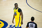 Golden State Warriors forward Draymond Green (23) argues with referee Bill Kennedy (55) during a NBA game against the Milwaukee Bucks at Oracle Arena in Oakland, Calif., on March 29, 2018. (Stan Olszewski/Special to S.F. Examiner)