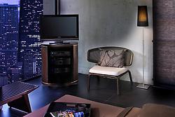 Bedroom at night with TV modern VA1_803_266