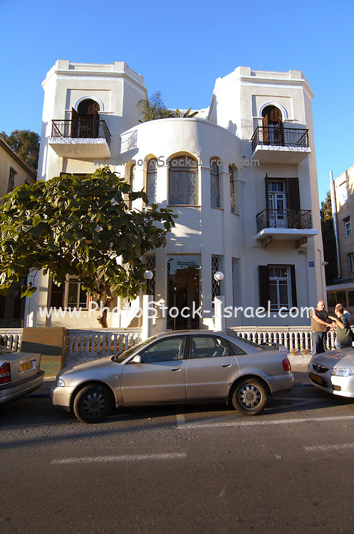 An Eclectic architectural style building from the 1920s, Rothschild boulevard, Tel Aviv, Israel
