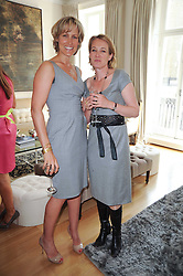 Left to right, SANTA SEBAG-MONTEFIORE and ANASATAIA BAKER at a party hosted by Maria Hatzistefanis to celebrate the publication of Santa Montefiore's new book 'The Affair' held at 35 Walpole Road, London on 27th April 2010.