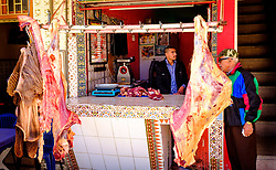 A butchers shop in Taliouine, a little mountain village in the south of Morocco<br /> <br /> (c) Andrew Wilson   Edinburgh Elite media