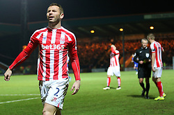 Stoke City's Phil Bardsley shows his anger after being yellow carded - Photo mandatory by-line: Matt McNulty/JMP - Mobile: 07966 386802 - 26/01/2015 - SPORT - Football - Rochdale - Spotland Stadium - Rochdale v Stoke City - FA Cup Fourth Round