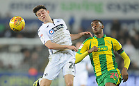 Swansea City's Dan James vies for possession with West Bromwich Albion's Tosin Adarabioyo<br /> <br /> Photographer Kevin Barnes/CameraSport<br /> <br /> The EFL Sky Bet Championship - Swansea City v West Bromwich Albion - Wednesday 28th November 2018 - Liberty Stadium - Swansea<br /> <br /> World Copyright © 2018 CameraSport. All rights reserved. 43 Linden Ave. Countesthorpe. Leicester. England. LE8 5PG - Tel: +44 (0) 116 277 4147 - admin@camerasport.com - www.camerasport.com