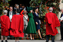 Pippa Matthews leaves after attending the wedding of Princess Eugenie and Jack Brooksbank at St George's Chapel, Windsor Castle.