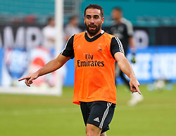 July 30, 2018 - Miami Gardens, Florida, USA - Real Madrid C.F. defender Daniel Carvajal in action during an open training session for the International Champions Cup match between Real Madrid C.F. and Manchester United F.C. at the Hard Rock Stadium in Miami Gardens, Florida. (Credit Image: © Mario Houben via ZUMA Wire)