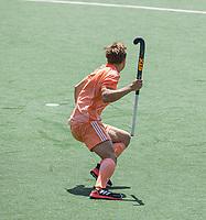 AMSTELVEEN - Thijs van Dam (Ned) heeft de beslissende gescoord,  EK hockey, finale Nederland-Duitsland 2-2. mannen.  Nederland wint de shoot outs en is Europees Kampioen.  COPYRIGHT KOEN SUYK