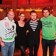 NLD/Hilversum/20110104 - Persviewing RTL5 programma Wie is de Reisleider, Bridget Maasland, Rick Brandsteder, Dennis Weening en Eddy Zoey