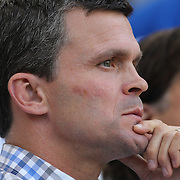 Mark Watson, Head Coach of the San Jose Earthquakes during the New York Red Bulls Vs San Jose Earthquakes, Major League Soccer regular season match at Red Bull Arena, Harrison, New Jersey. USA. 19th July 2014. Photo Tim Clayton