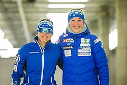 Eva Urevc and Anamarija Lampic during the training before start of olympic season 2021/2022, on 09.06.2021 in Nordic ski center Planica, Slovenia. Photo by Urban Meglič / Sportida