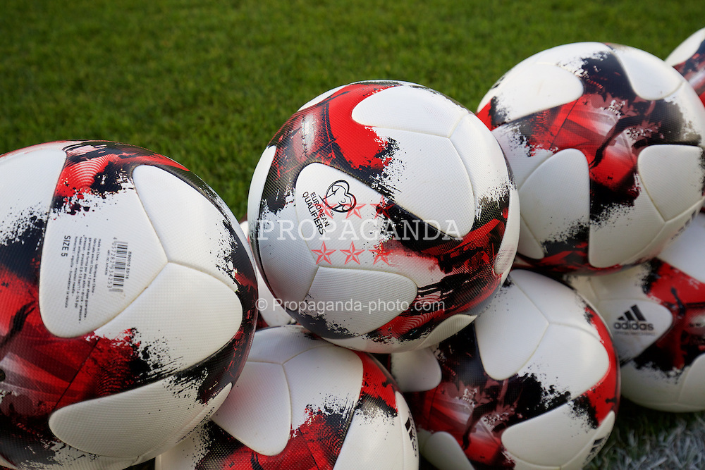 BANGOR, WALES - Saturday, November 12, 2016: Match balls before the UEFA European Under-19 Championship Qualifying Round Group 6 match between Wales and England at the Nantporth Stadium. (Pic by Gavin Trafford/Propaganda)