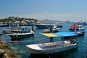 A groups of boats in Cabo San lucas