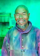 Tibetan man in Spangmik on Pangong Lake, Ladakh, India
