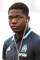 Aaron Leya Iseka of Marseille before the French Ligue 1 match between Marseille and Lorient at Stade Velodrome on August 26, 2016 in Marseille, France. (Photo by Dave Winter/Icon Sport)