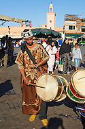 Musicians in the Jemaa el-Fnaa square in  Marrakech, Morocco .<br /> <br /> Visit our MOROCCO HISTORIC PLAXES PHOTO COLLECTIONS for more   photos  to download or buy as prints https://funkystock.photoshelter.com/gallery-collection/Morocco-Pictures-Photos-and-Images/C0000ds6t1_cvhPo<br /> .<br /> <br /> Visit our ISLAMIC HISTORICAL PLACES PHOTO COLLECTIONS for more photos to download or buy as wall art prints https://funkystock.photoshelter.com/gallery-collection/Islam-Islamic-Historic-Places-Architecture-Pictures-Images-of/C0000n7SGOHt9XWI