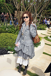 HELENA BONHAM-CARTER at the RHS Chelsea Flower Show 2009 held inthe gardens of the Royal Hospital Chelsea on 18th May 2009.