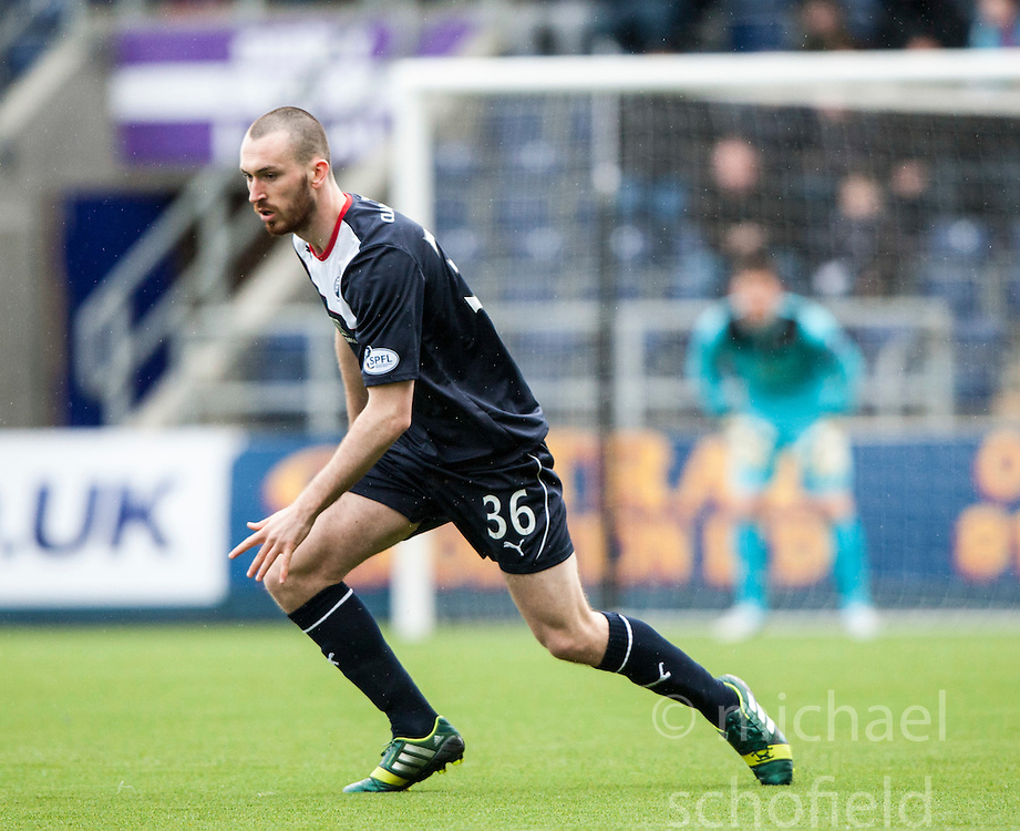 Falkirk's Joe Chalmers.<br /> Falkirk 1 v 0 Queen of the South, Scottish Championship game today at the Falkirk Stadium.<br /> © Michael Schofield.