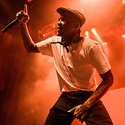 """SILVER SPRING, MD - October 12th, 2016 - Rapper YG performs at the Fillmore Silver Spring in Silver Spring, MD as part of his FDT Tour.  The tour takes it name from YG's viral anthem """"FDT (F--k Donald Trump)."""" (Photo by Kyle Gustafson / For The Washington Post)"""