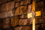The processional cross at Family of Christ Lutheran Church, Houlton, Wis., on Sunday, Feb. 14, 2021. LCMS Communications/Erik M. Lunsford