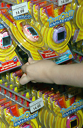 Aug 10, 2004; New York, NY, USA; RYAN CABRERA launched 'Tamagotchi Connection' a small jampanese made virtual pet featuring new infared communication functions enabling it to commincate with other Tamagotchi 'pets' . The egg shaped Tamagotchi simulates the life cycle of a pet. Kids feed and care for their TAMAGOTCHI..  (Credit Image: Dan Herrick/ZUMAPRESS.com)