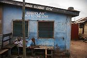 Panix Boxing Gym.  Motto:  One Love.  Accra, Ghana