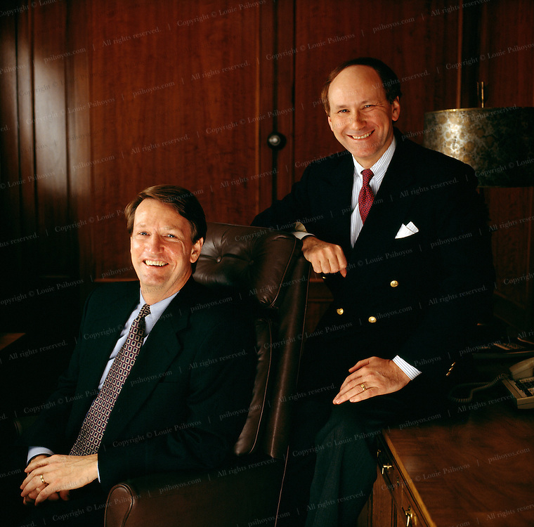 """G. Richard """"Rick"""" Wagoner Jr. was named president and chief executive officer of General Motors on June 1, 2000. He also serves on its board of directors. On his left is Louis R. Huge."""