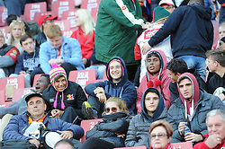 19 May 2018, Johannesburg. Emirates Airlines Park, Ellis Park. Rugby fans in warm clothing brave icy gautneg weather.<br />Gauteng Emirates Lions vs Canberra Brumbies. Picture: Karen Sandison/African News Agency (ANA)