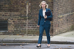Downing Street, London, October 18th 2016. Justice Secretary and Lord Chancellor Liz Truss arrives at the weekly cabinet meeting at 10 Downing Street in London.