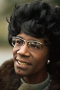 1971, Fort Dix, New Jersey, USA --- Representative Shirley Chisholm --- Image by © Leif Skoogfors/CORBIS