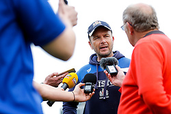 Bristol Rugby First Team Coach Sean Holley is interviewed after Bristol win the match 16-45 to take a 29 point lead into the 2nd leg at Ashton Gate - Mandatory byline: Rogan Thomson/JMP - 01/05/2016 - RUGBY UNION - Goldington Road - Bedford, England - Bedford Blues v Bristol Rugby - Greene King IPA Championship Play Off Semi Final 1st Leg.